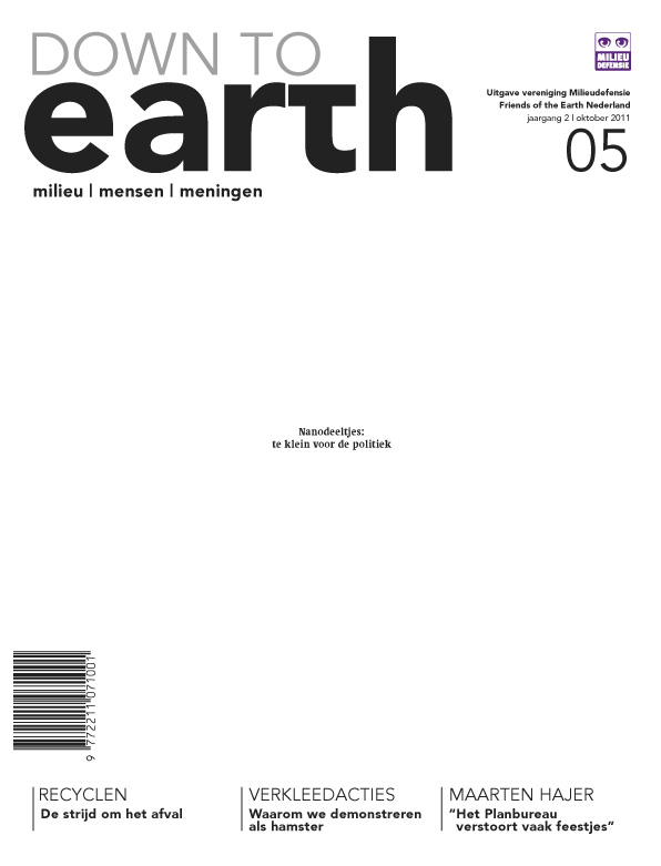 Cover van Down to Earth 07 (okt 2011)