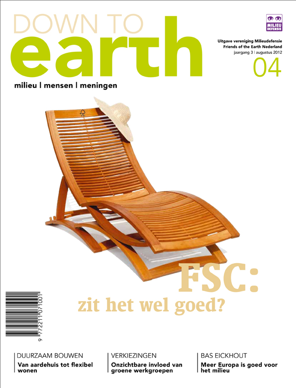 Cover van Down to Earth 12 (aug 2012)