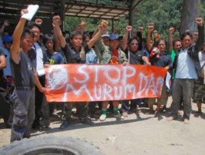 Murum dam activisten