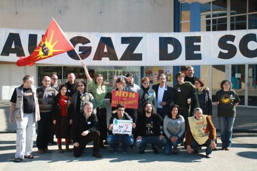 Antigasschaliegasactivisten bijeen. Foto: Jose, cc