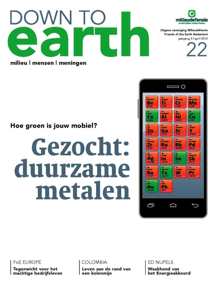 Cover van Down to Earth 22 (april 2014)