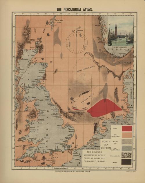 Historische kaart van de Centrale Oestergronden, Olsen 1883
