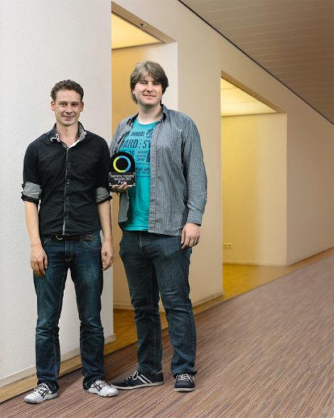 Erik Bozelie en Peter Bruins