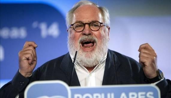 De beoogde Eurocommissaris voor Energie en Klimaat Miguel Arias Cañete