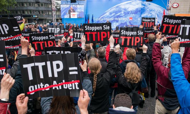 Anti TIPP demonstratie Berlijn