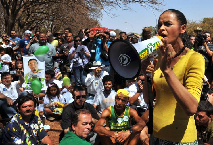 Marina Silva als lijsttrekker van de Groene Partij in 2010