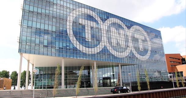 Het aardgasvrije hoofdkantoor van TNT in Hoofddorp