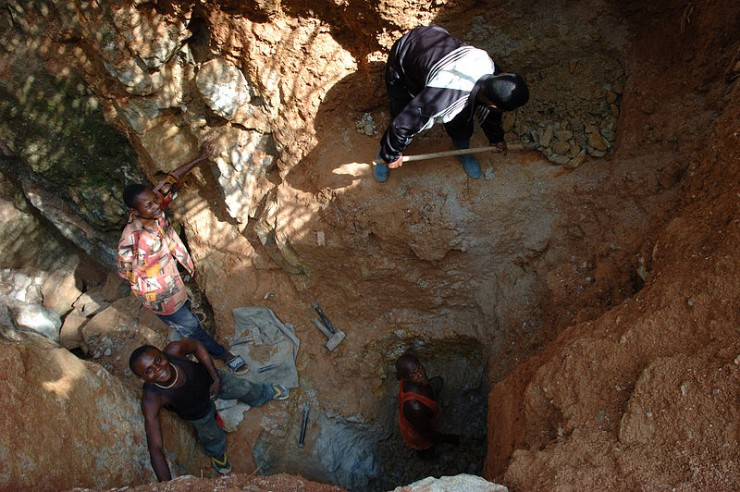 Een wolfraammijn in Congo