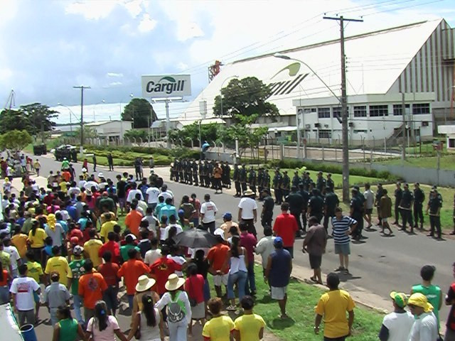Manifestatie tegen Cargill in Santarém