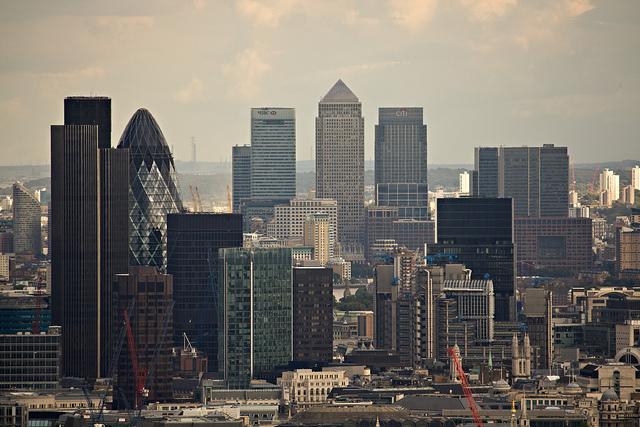 Het financiële district van Londen. Michael Duxbury/Flickr cc