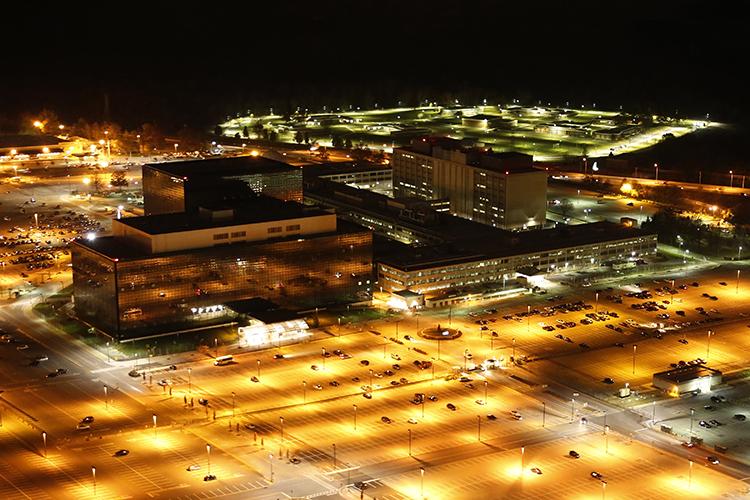 NSA-hoofdkantoor, still uit Oscar-winnaar Citizenfour, docu over Edward Snowden. Vanaf 28 mei 2015 in de bios.