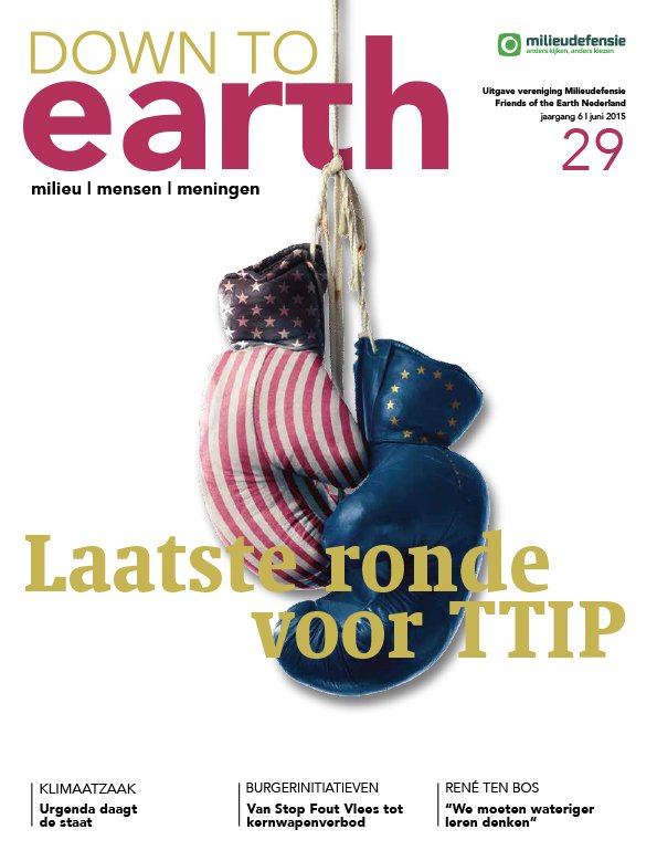 Cover van Down to Earth 29 (juni 2015)