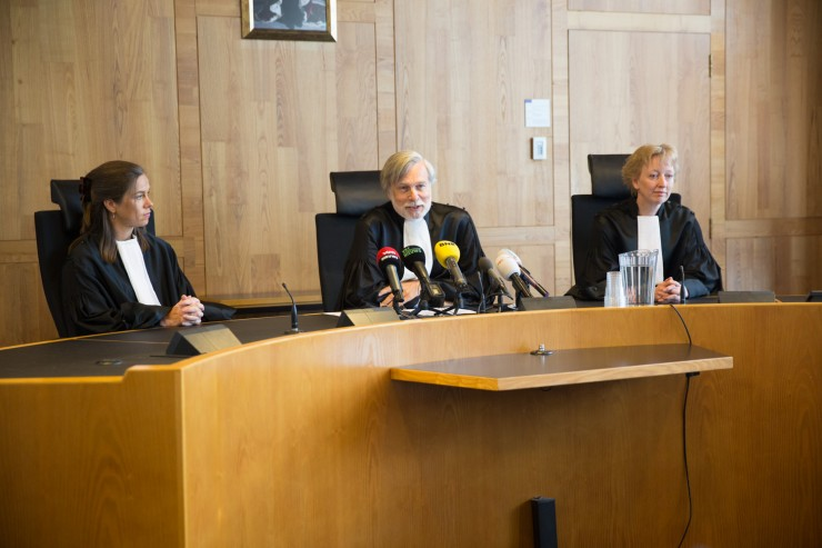 De rechtbank in Den Haag doet uitspraak in de Klimaatzaak. Foto: Chantal Bekker/Urgenda