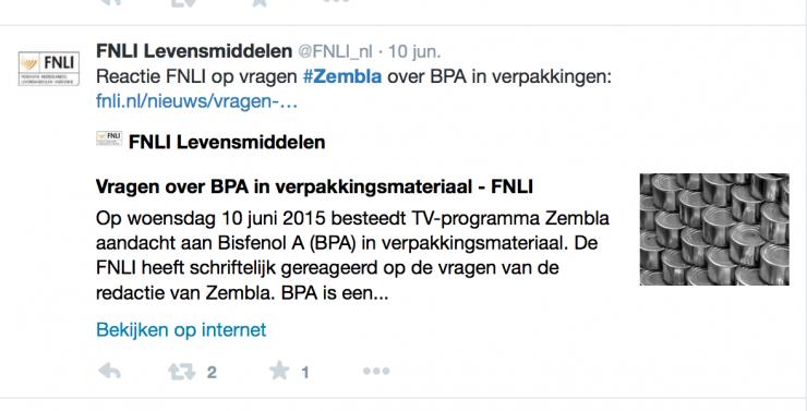 Tweet FNLI Hormoonverstorende