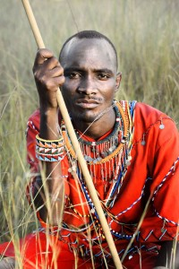 Een Masaï-krijger