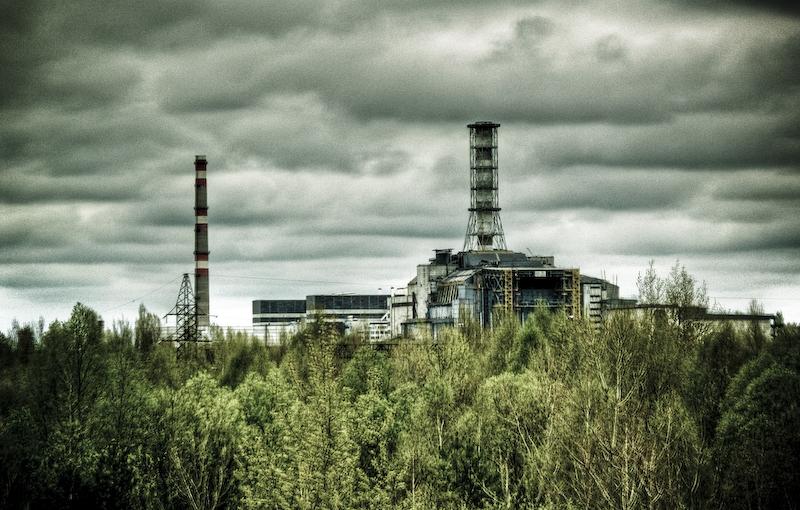 De reactor van Tsjernobyl, vlak na de ramp. Foto: wikipedia