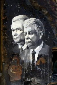 Jaroslaw & Lech Kaczynski, Beeld Thierry Ehrmann