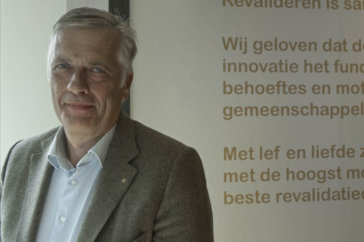 Directeur Marco Wisse: 'Steeds vaker koopt ook het personeel hier een maaltijd om mee naar huis te nemen.' Beeld: Liesbeth Sluiter
