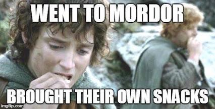 Je loopt niet zomaar Mordor in, dat snapt iedereen.