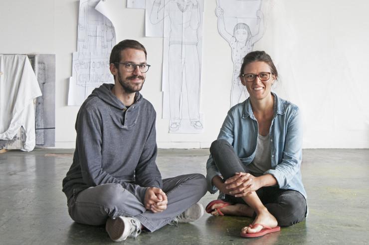 Selçuk Balamir en Teresa Borasino, oprichters en leden van Fossil Free Culture, een beweging die sponsoring van culturele instellingen door de fossiele-brandstoffenindustrie bestrijdt.