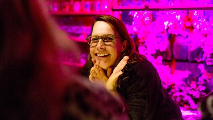 Een van de initiatiefnemers van het PopinnPark Beeld: Dinand van der Wal