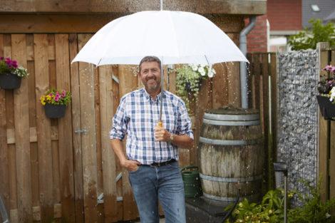 Blij met regenwater