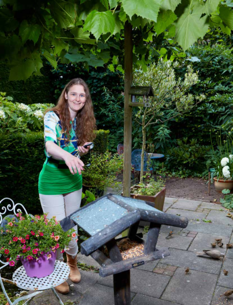 Tellen helpt: Joyce Verschoor telde voor het eerst tuinvogels