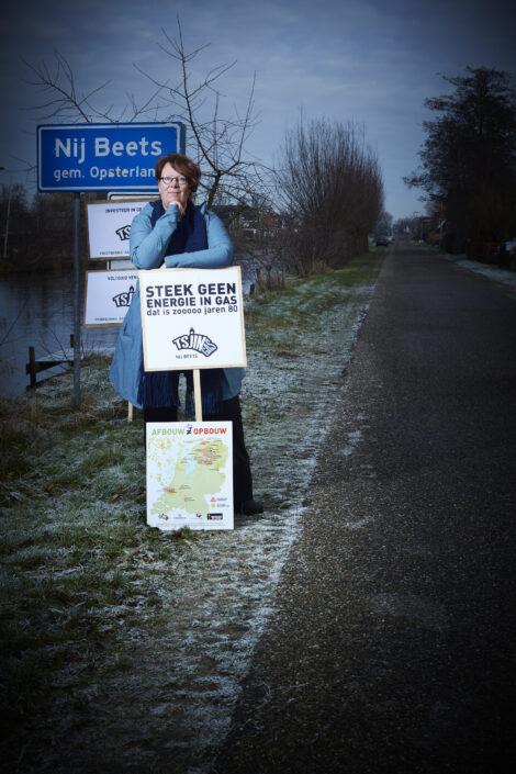 Verzet tegen kleine gasvelden: Monique Plantinga van Tjinggas
